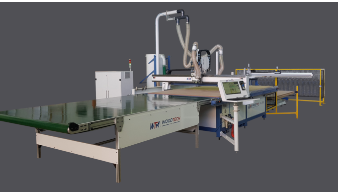 This is WoodTech's flagship CNC offering which fully automates product labelling, loading and routin...