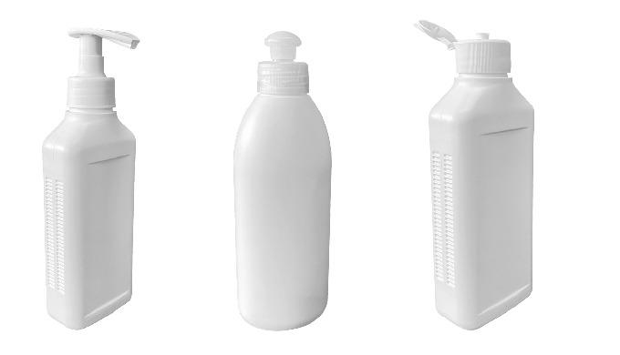 Leere Flaschen für Desinfektionsmittel