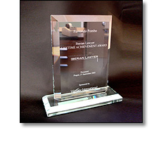 Glass trophies & Plaques