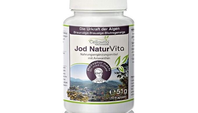 Jod Natur Vita - 4-Monatsvorrat - 120 Kapseln