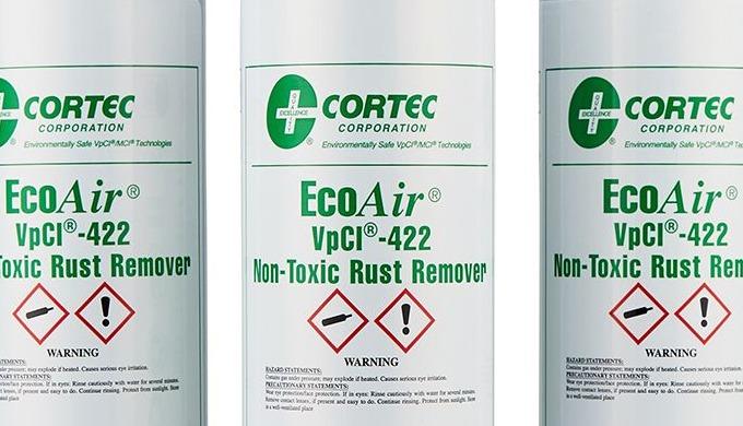 Cortec VPCI 422 EcoAir® aerosol er en markedsledende 'bedste i klassen' flydende rustfjerner spray. ...