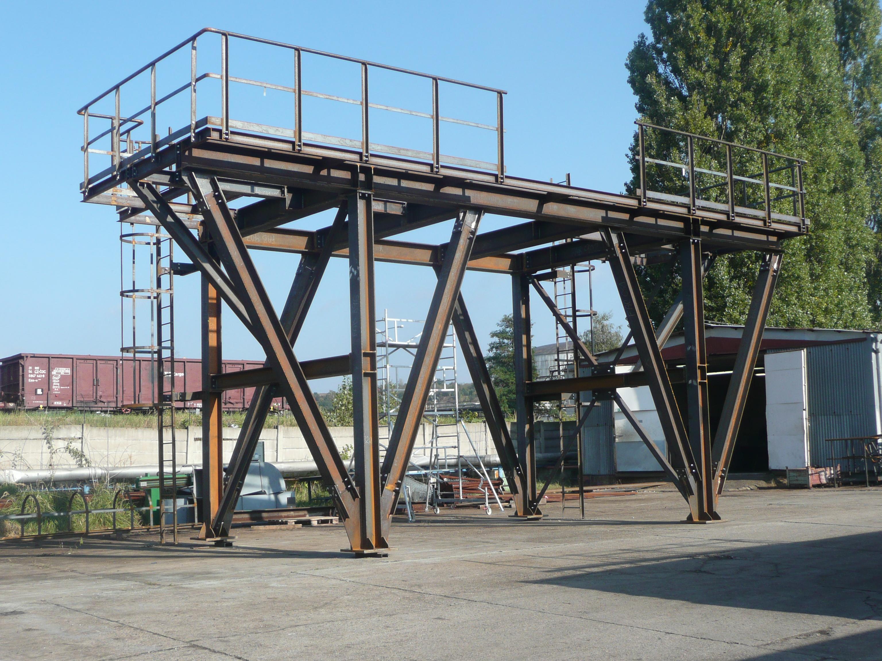 výroba a montáž ocelových konstrukcí včetně povrchových úprav a zkušebního sestavení