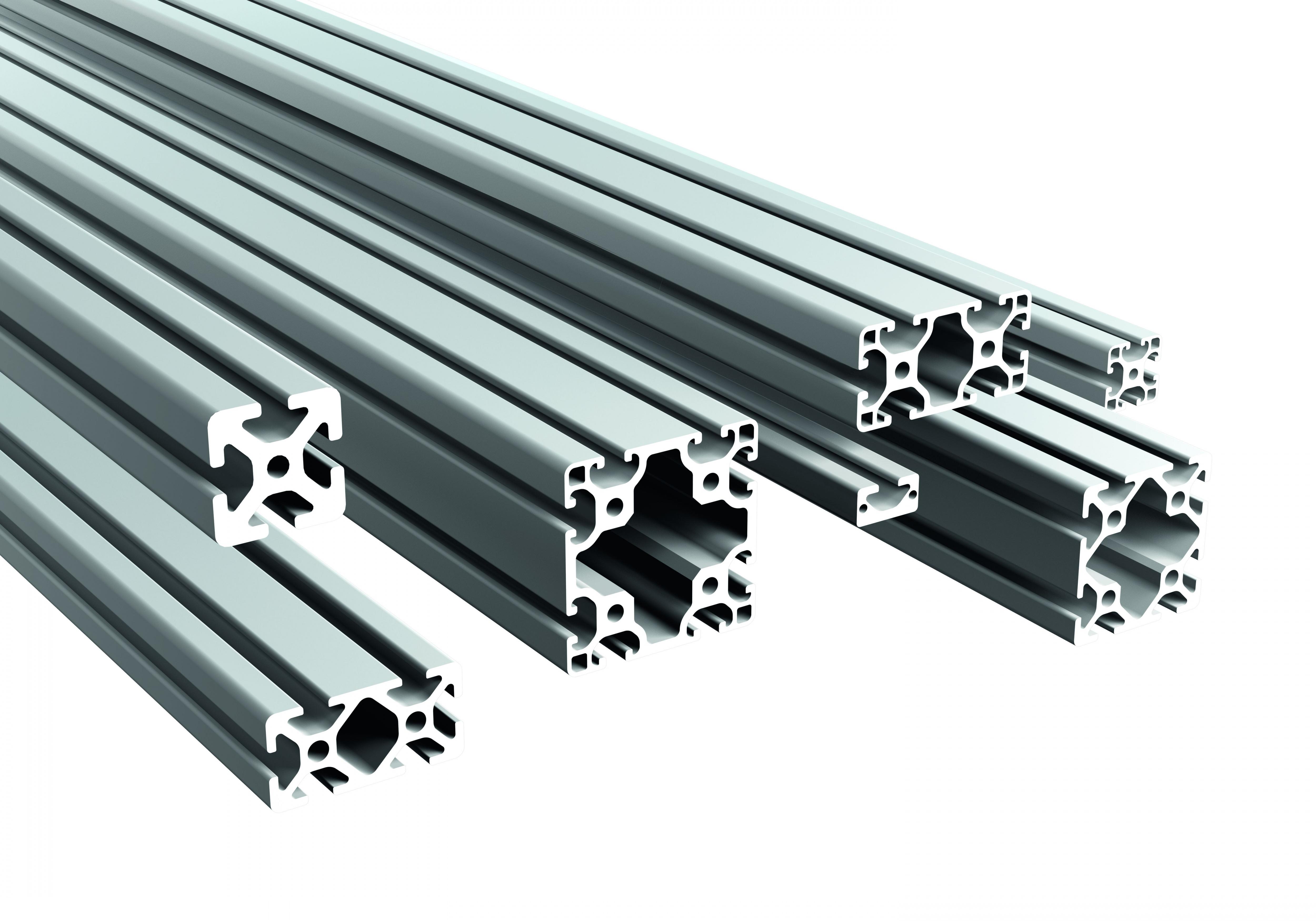 Robuste, kratzfeste und korrosionsgeschützte Aluminiumprofile. Die warmausgehärteten Halbzeuge mit r...