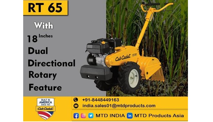 We provide a wide range of Rear Tine Tiller in different sizes and dimensions according to the needs...