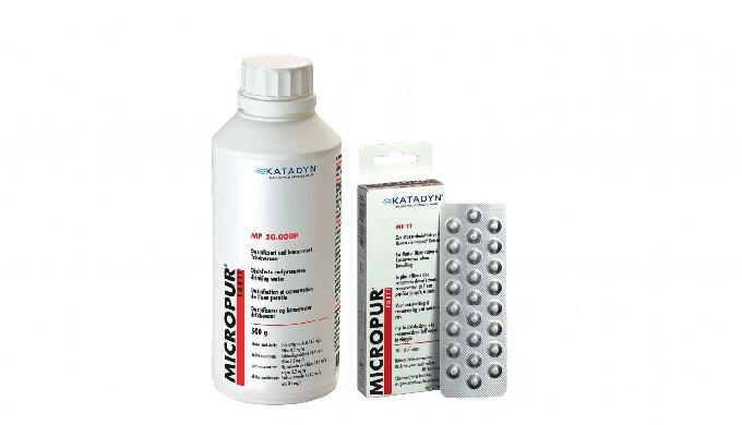 Image01: Comprimés de purification Agent actif : Ag+, hypochlorite de calcium .Efficace contre les b...