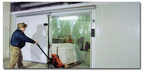 Хладостойкий ПВХ ленточный пластичный до -25С для энергосберегающих термоштор в морозильники, рефрежираторы и на наружные входы с улицы