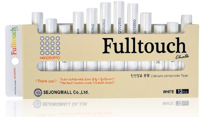 HAGOROMO FULLTOUCH WHITE CHALK [12 PCS]/1 BOX
