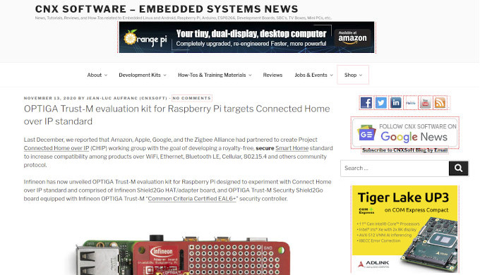 We offer banner ads, sponsored post, or review/testing services for embedded systems, electronics an...