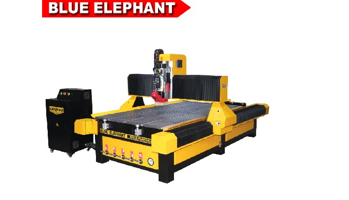Blue Elephant 1325 3 axis linear atc woodworking machine for flat and cylinder engraving