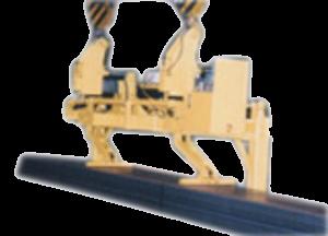 Zařízení je navrženo pro manipulaci se svazky hutního materiálu. Při nájezdu do uliček mezi svazky h...