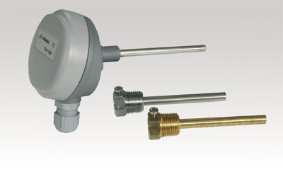 TEAT dyktemperaturgivare för mätning av temperatur i vätska för kyla och värme. Dykgivaren levereras...
