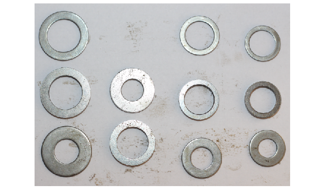 Also known as Type A plain washers, the flat washer is what most people picture when thinking of a t...