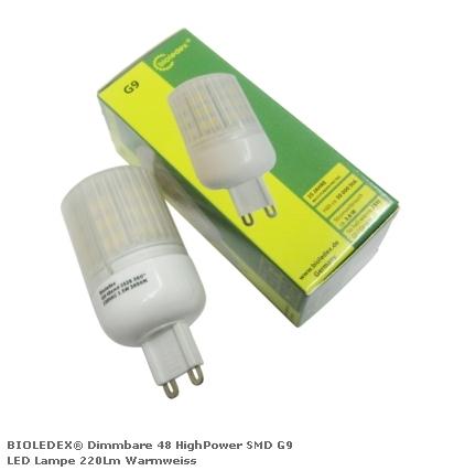 Светодиодная диммируемая лампа BIOLEDEX с цоколем G9 SMD HighPower 3,6Вт 220Лм