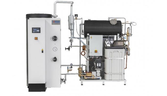 Unsere Dampferzeuger erhalten Sie auf Wunsch als betriebsfertige Dampfkesselanlage: CERTUSS Dampfaut...