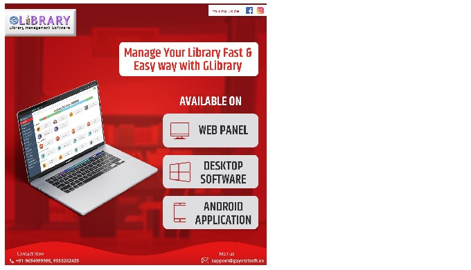 Glibrary is library management software developed by Gayatri Software Services Pvt Ltd, India. It is...
