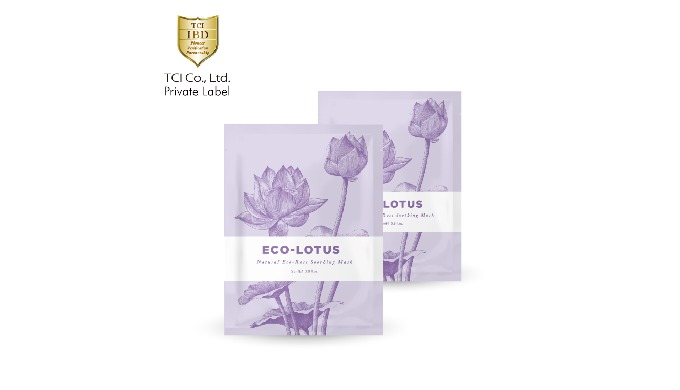 Natural Lotus Flower Extract Face Mask Anti Oxidant Ecocert Safety Moisturizing Mask Made in Taiwan