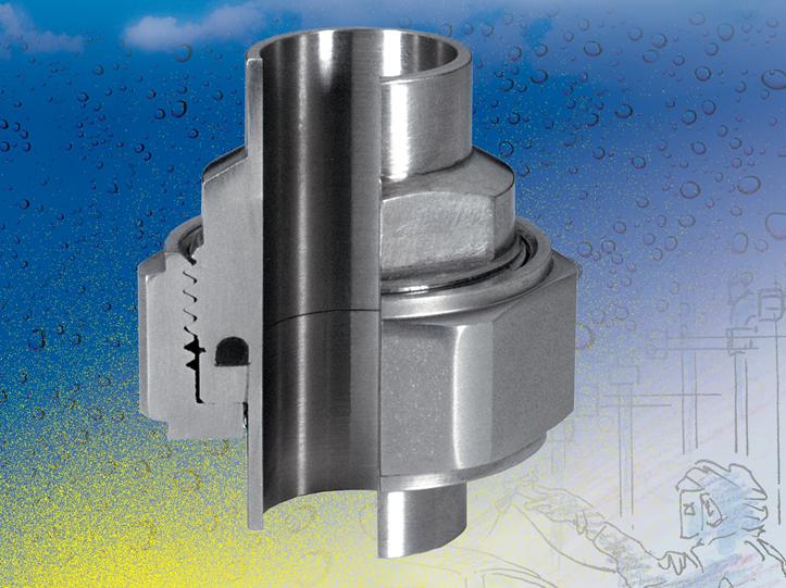 Šroubení Ecotube pro potrubní systémy čištěných molchováním, s omezenými mrtvými prostory, vyvinuté ...