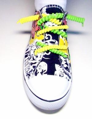 Spirálové tkaničky pro dětskou obuv