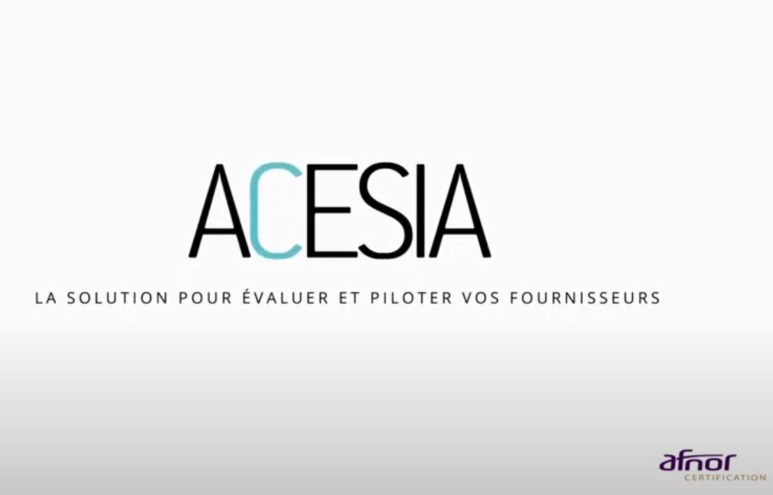 Evaluation fournisseurs avec ACESIA