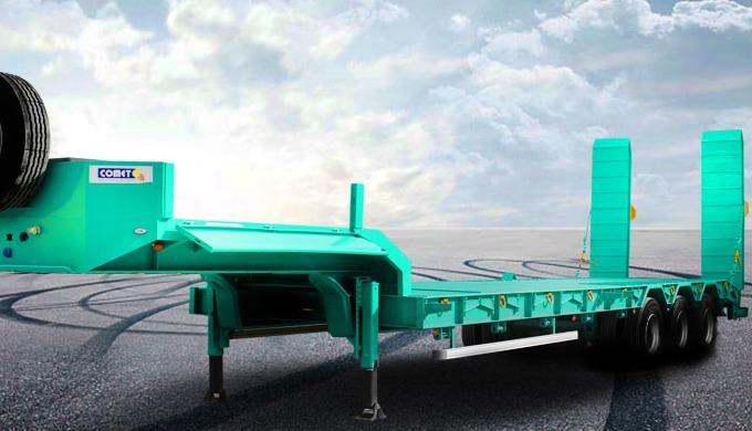 La semi-remorque porte-engins moyen tonnage à 3 essieux COMET est consacrée au transport de différen...