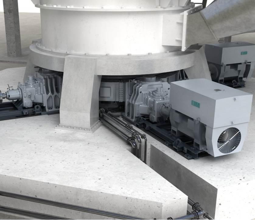 Modulare Antriebssystem für Vertikalmühle / für die Zimentindustrie / 3-stufig