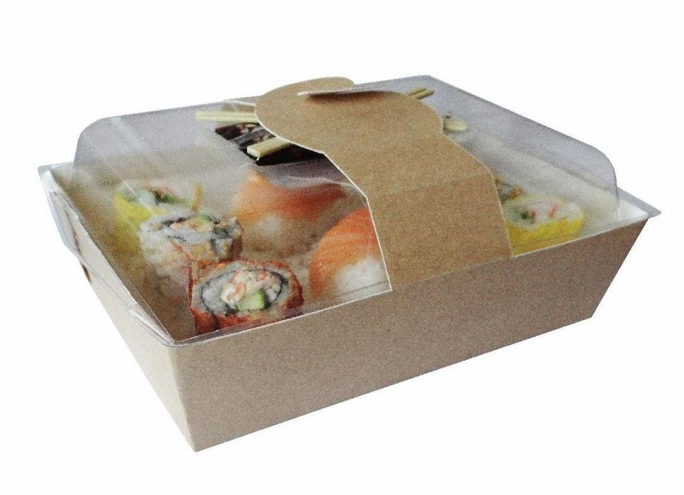 Emballage bi-matériau pour la consommation nomade, barquette VELFOOD