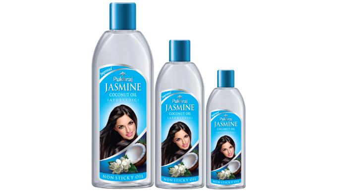 The essence of jasmine mingled with the goodness of coconut makes Pukhraj Jasmine Coconut Oil a ligh...