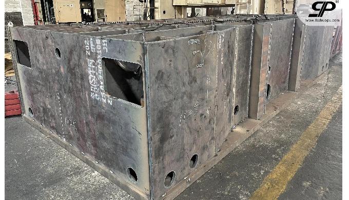 OEM welding heavy steel base for Hydraulic Press