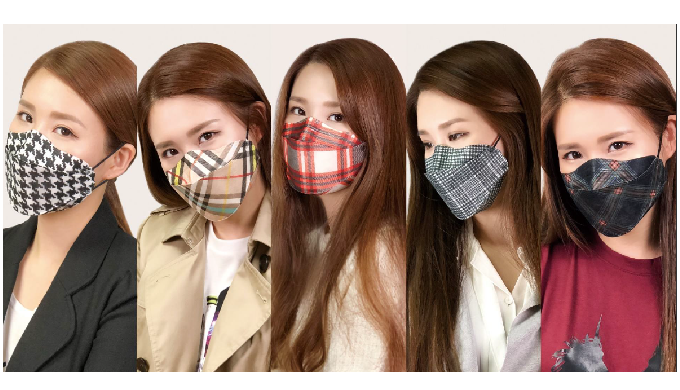 Character Brand TalkDolls Fashion Mask KF94 Yellow dust, dust mask for dust protection for ultrafine...