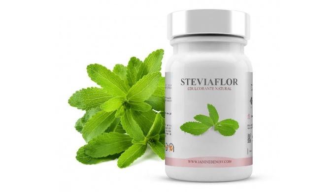Steviaflor es un edulcorante de mesa 100% natural compuesto de stevia pura, que se extrae de una pla...