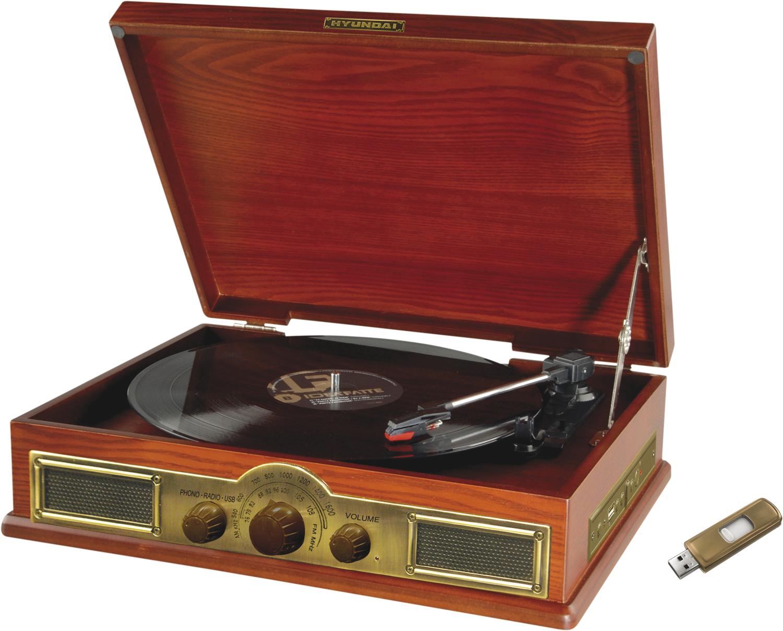 Netradiční retro gramofon potěší všechny, co mají doma staré desky. Model kombinuje gramofon s analo...