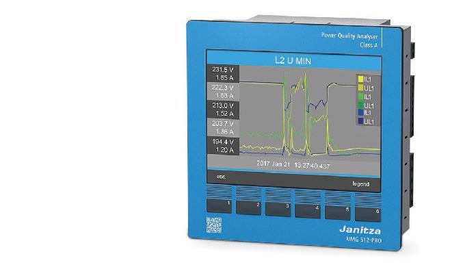 UMG 512-PRO CLASS A POWER QUALITY ANALYZER WITH RCM Power Quality Analyzer, Class A with Multi-Colou...