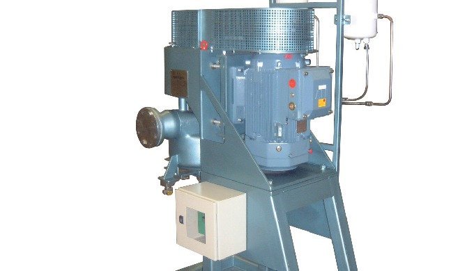 Continuous in-line size reduction, dispersion and mixing of liquids, slurries and suspensions. Devel...