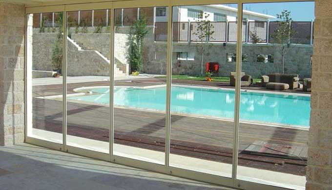 Folding glass doors F3