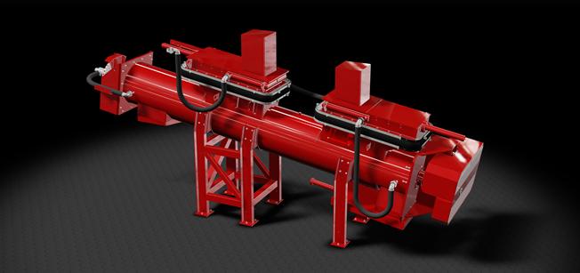 Noxor AB:s vattenkylda skruvtransportörer har en robust uppbyggnad och dimensionering för att klara ...