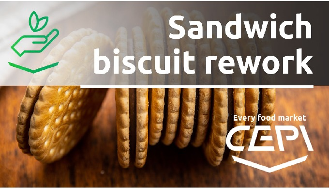 Sandwich biscuit rework: reduced consumptions and a more sustainable process