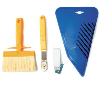 verktyg för tapetsering