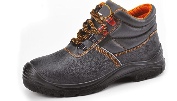 FEATURES S3 SRC Air mesh lining & amp; Resistant to Abrasion Black embossed cow leather Pu/Pu Inject...