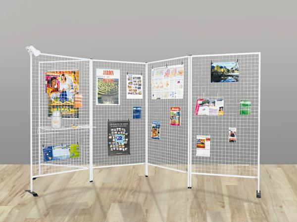 Pour vos espaces d'exposition, vos vitrines !Modulables : Installation individuelle avec une paire d...