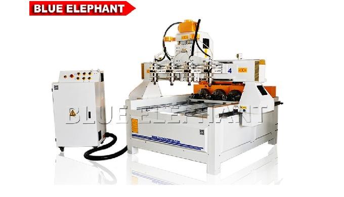 ELECNC-0809 Многоголовочный 4-осевой фрезерный станок с ЧПУ