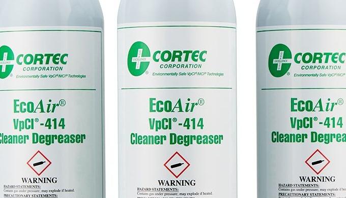 Cortec VPCI® 414 er et vandbaseret, biologisk nedbrydeligt, renere affedtningsmiddel, der også fjern...