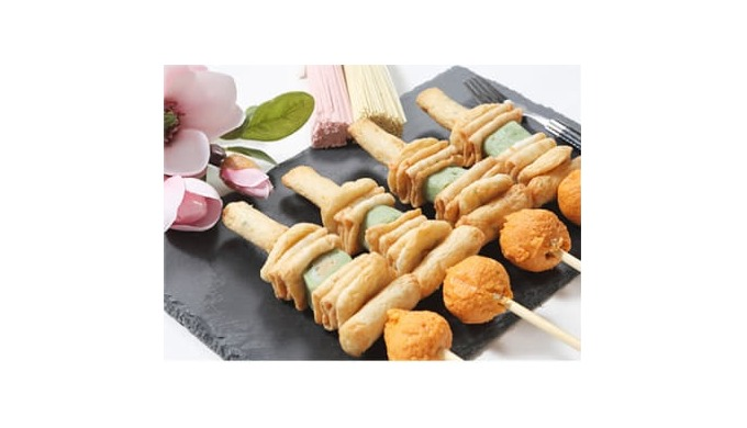 Fish cake with skewer