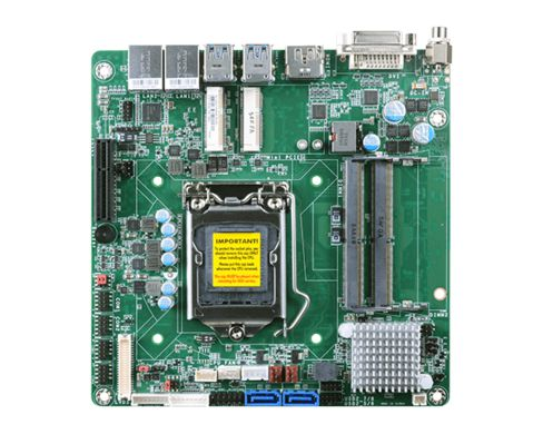 7/6th Gen Intel® Core™ with Intel® Q170 2 DDR4 SODIMM up to 32GB Three independent displays: LVDS + ...