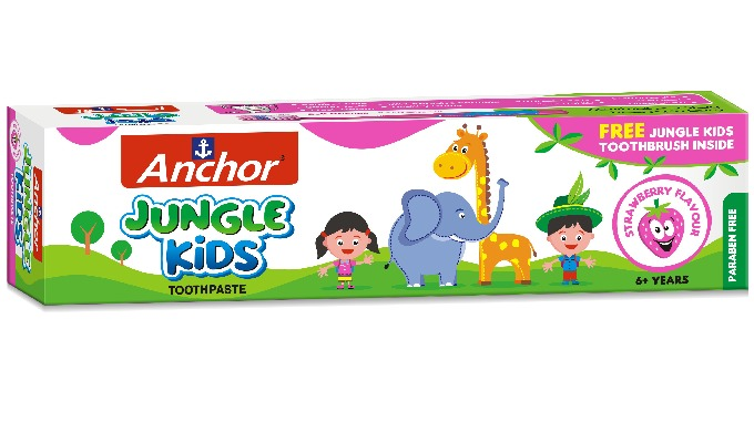 Anchor Jungle Kids Toothpaste for Kids for 6 year and above Available for in 3 flavours Bubble Gum O...