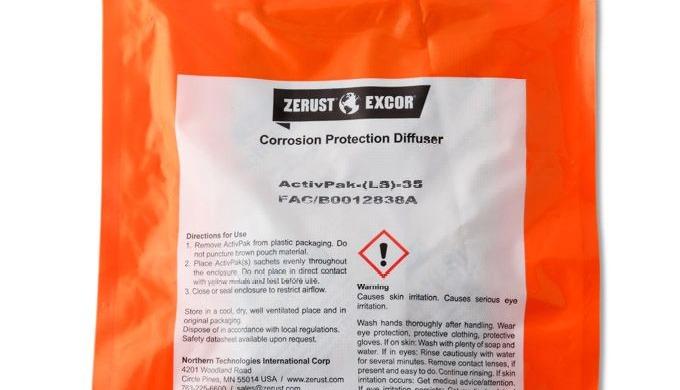 Zerust Activpak ® VCI Corrosion Inhibitor Pads leverer kraftig og hurtigvirkende korrosionsbeskyttel...