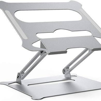 Adjustable aluminum folding tablet desktop stand