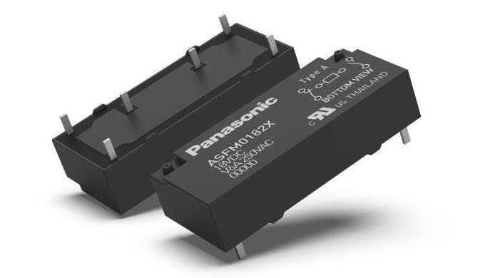 """Panasonic: Jen 7,8 mm tenké bezpečnostní """"šestiamperové"""" relé"""