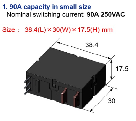 90A Latching Relay for Energy Meters - DZ-S