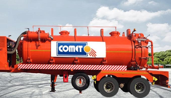 La semi-remorque citerne aspiratrice COMET, d'une capacité de 20 000 L, est destinée au transport de...
