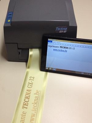 Lintenprinter Teckna GX-12 voor het drukken op linten - Inters - Urnen - enz. - Onder Windows (met M...